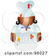 Royalty Free RF Clipart Illustration Of A Faceless Female Chef With Food Splattered On Her Uniform by Prawny