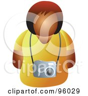 Royalty Free RF Clipart Illustration Of A Faceless Woman Wearing A Camera by Prawny