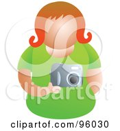 Royalty Free RF Clipart Illustration Of A Faceless Woman Holding A Camera by Prawny