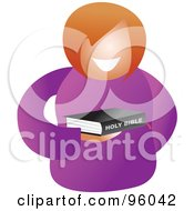 Royalty Free RF Clipart Illustration Of A Faceless Christian Woman Holding A Bible