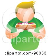 Royalty Free RF Clipart Illustration Of A Faceless Man Holding A Bun