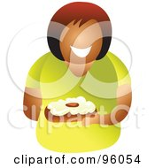Royalty Free RF Clipart Illustration Of A Faceless Woman Holding A Cake