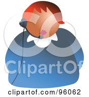Royalty Free RF Clipart Illustration Of A Customer Service Lady Wearing A Headset