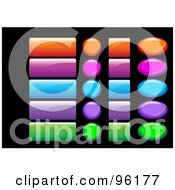 Royalty Free RF Clipart Illustration Of A Digital Collage Of Shiny Colorful Website And App Icon Buttons 1