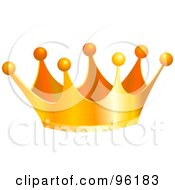 Royalty Free RF Clipart Illustration Of A Golden King Crown With Balls On The Tips