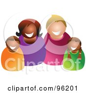 Royalty Free RF Clipart Illustration Of A Happy Mixed Family 2 by Prawny