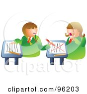 Royalty Free RF Clipart Illustration Of A Mean School Girl Turning Around To Bully A Classmate by Prawny