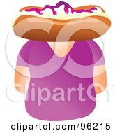 Royalty Free RF Clipart Illustration Of A Woman With A Bun Face