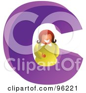 Royalty Free RF Clipart Illustration Of A Letter C Businesswoman