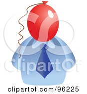 Royalty Free RF Clipart Illustration Of A Businessman With A Balloon Face by Prawny