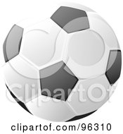 Soccer Ball With Black And White Traditional Markings
