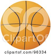 Orange Basketball With Black Lines