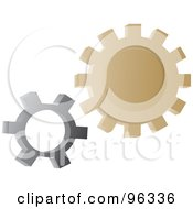 Gray And Brown Gear Cogs
