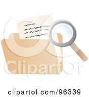 Magnifying Glass Searching A File