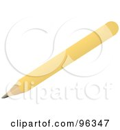 Diagonal Yellow Pencil
