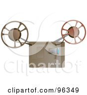 Royalty Free RF Clipart Illustration Of A Movie Reel Machine