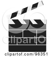 Royalty Free RF Clipart Illustration Of A Plain Cinemar Clapper Board by Rasmussen Images #COLLC96351-0030