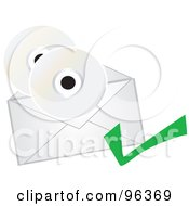 CDs With An Envelope And Check Mark