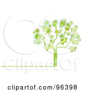 Royalty Free RF Clipart Illustration Of A Tree Made Of Pink Green Purple Yellow And Blue Bubbles Or Circles