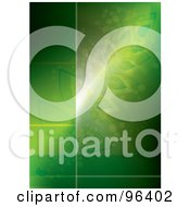 Royalty Free RF Clipart Illustration Of A Glowing Green Botanical Background With Copyspace For Text by MilsiArt