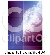 Royalty Free RF Clipart Illustration Of A Purple Glowing Circle Background With A Bar For Text