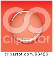Royalty Free RF Clipart Illustration Of A Clear Water Droplet Reflecting Light On Red