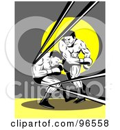 Royalty Free RF Clipart Illustration Of Boxers In A Ring 1
