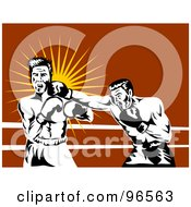 Royalty Free RF Clipart Illustration Of Boxers In A Ring 4