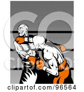 Royalty Free RF Clipart Illustration Of Boxers In A Ring 5