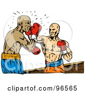 Royalty Free RF Clipart Illustration Of Boxers In A Ring 6