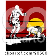 Royalty Free RF Clipart Illustration Of Boxers In A Ring 7