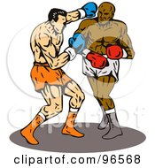 Royalty Free RF Clipart Illustration Of Boxers In A Ring 9