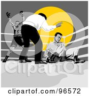 Royalty Free RF Clipart Illustration Of Boxers In A Ring 12