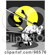 Royalty Free RF Clipart Illustration Of Boxers In A Ring 15