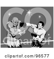 Royalty Free RF Clipart Illustration Of Boxers In A Ring 16