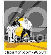 Royalty Free RF Clipart Illustration Of Boxers In A Ring 20 by patrimonio