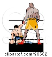 Royalty Free RF Clipart Illustration Of Boxers In A Ring 21