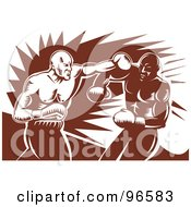 Royalty Free RF Clipart Illustration Of Boxers In A Ring 22