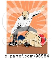 Royalty Free RF Clipart Illustration Of Boxers In A Ring 23 by patrimonio