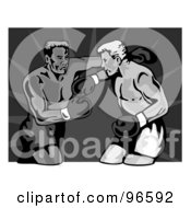 Royalty Free RF Clipart Illustration Of Boxers In A Ring 30
