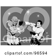 Royalty Free RF Clipart Illustration Of Boxers In A Ring 32