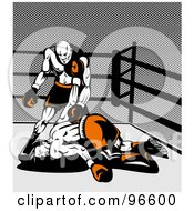 Royalty Free RF Clipart Illustration Of Boxers In A Ring 37