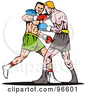 Royalty Free RF Clipart Illustration Of Boxers In A Ring 38