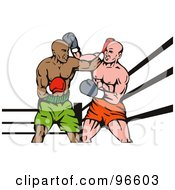 Royalty Free RF Clipart Illustration Of Boxers In A Ring 40