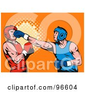 Royalty Free RF Clipart Illustration Of Boxers In A Ring 41
