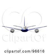 Royalty Free RF Clipart Illustration Of A Commercial Airplane In Flight 7