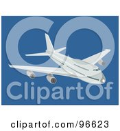 Royalty Free RF Clipart Illustration Of A Commercial Airplane In Flight 14