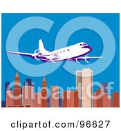 Royalty Free RF Clipart Illustration Of A Commercial Airplane In Flight 18