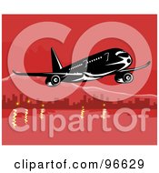 Royalty Free RF Clipart Illustration Of A Commercial Airplane In Flight 19
