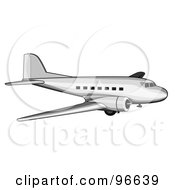 Royalty Free RF Clipart Illustration Of A Commercial Airplane In Flight 26